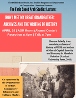 How I Met My Great Grandfather: Archives and the writing of history