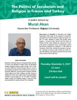 Public Lecture: The Politics of Secularism and Religion in France and Turkey