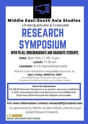 ME/SA Research Symposium