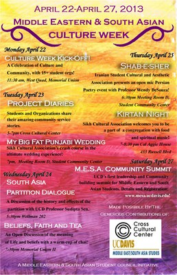 Middle Eastern & South Asian Culture Week 2013